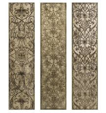 crafthubs pattern wood wall panel art black stained varnished portrait rectangle design cool white background flowers