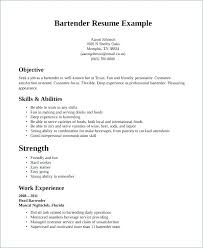 Bartender Resume Template Interesting Resume Templates For Bartenders Resume Samples Sample Bartender