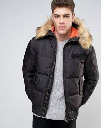 river island padded jacket with fur trim hood in black men jackets river island jackets asos river island dresses size 18 official authorized