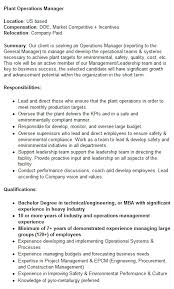 Plant Operations Manager Mining Job In Usa - Careermine