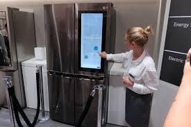 lg refrigerator instaview. knock on lg\u0027s new fridge, and it will turn transparent or bring up windows lg refrigerator instaview u