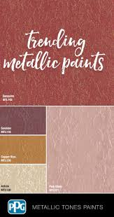 Metallic Tones Interior In 2019 Metallic Paint Walls