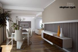 ... Fascinating Interior Decorating Ideas Design Online : Extraordinary  Rectangular White Wooden Dining Table With White Leather ...