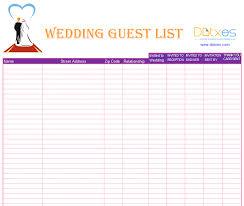 Blank Wedding Planning Checklist A Preofesional Excel Blank Wedding Guest List List Templates