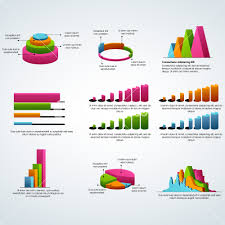 Business Charts And Graphs Set Of Colorful Statistical Infographic Elements As Charts
