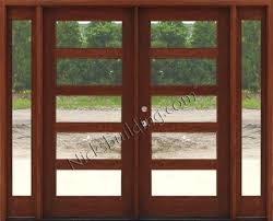 wood front doors with glass double front doors with glass contemporary within craftsman wood door sidelights