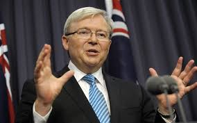Kevin Rudd becomes first Australian prime minister to support gay ... via Relatably.com