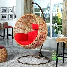 egg wicker chair outdoor furniture hanging rattan freestanding swing cushion replacement
