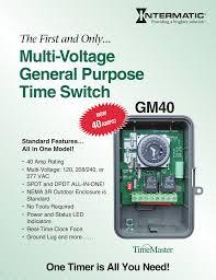 Tork Time Switch Model 1104 Wiring Diagram 120v #38