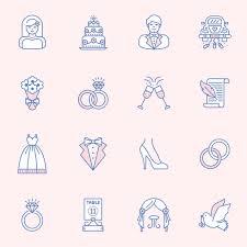 Wedding Outline Icon Vector Set Download Free Vector Art Stock