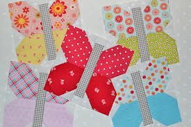 butterflies with blogger's choice bundle — grey dogwood studio & It's nice to have a really easy quilt block to work on. No need to worry  about cutting off any points here! I added the grey gingham butterfly  bodies from ... Adamdwight.com