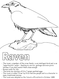 Small Picture Raven coloring page