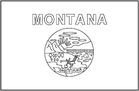 Small Picture Print and Color Montana State Flag