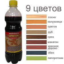 <b>Морилка</b> для дерева спирт., <b>орегон</b>, <b>0</b>,<b>5 л</b>. АНЛЕС