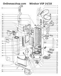 windsor versamatic plus vsp18 parts windsor vsp18 vacuum parts washer parts diagram vacuum parts diagram