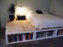 Diy Bed Frame With Bookcase Ideas...kind of like this, but no