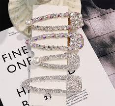 <b>Fashion</b> Flash <b>Luxury</b> Diamond Crystal Barrette <b>Pearl</b> Elegant ...