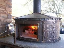 steel oven made from an old propane tank