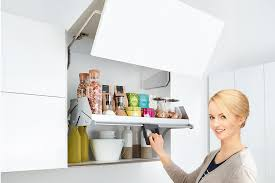 pull down system for kitchen wall cabinets