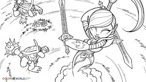Small Picture Skylanders Ninjini Coloring Page Ninjini Free Color Page Download