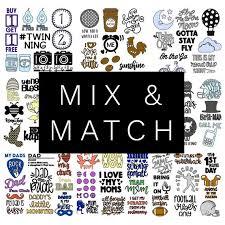 Mix Match Onesie Decals You Pick Onesie Station Iron On Heat Transfer Vinyl Decals For Baby Showers