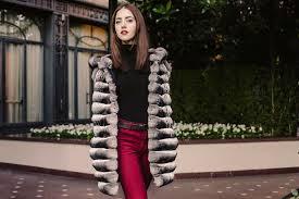 milano chinchilla coat long chinchilla coat with hood