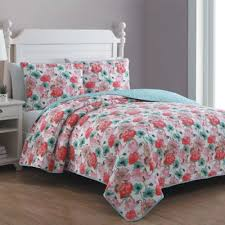 Buy Aqua King Quilt from Bed Bath & Beyond & Estate Stacia Reversible King Quilt Set in Red Adamdwight.com