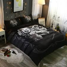 ... Bedroom Furniture Sexy Marilyn Monroe 3D Skull Print Bedding Set  Full/Queen/King/ ...