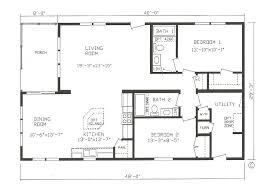 modern house plans open floor plan for small two bedroom under best small house floor plans