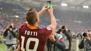 Il selfie di Totti