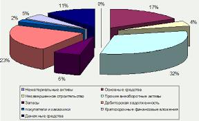 Дипломный проект Пути повышения конкурентоспособности предприятия  Рассматривая структуру формирования активов за 2008 Рисунок 1 10 и 2009 Рисунок 1 10 или другими словами проводя вертикальный анализ финансовых данных