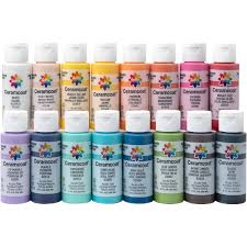 Ceramcoat Color Chart Delta Ceramcoat Acrylic Paint 16 Color Set