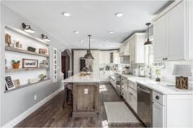natural cabinet lighting options breathtaking. Delighful Lighting Farmhouse Large Kitchen Cabinets White Recessed Panel Doors Distressed Natural  Wood Island Breakfast Bar Metal Built And Cabinet Lighting Options Breathtaking I