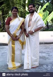 A Couple In Traditional Kerala Dress Stock Photo Royalty