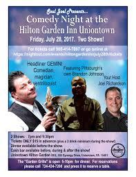 comedy night at the hilton garden inn uniontown