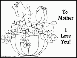 Mother Day Coloring Pages For Mom