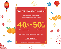 create your own money envelopes from 40 off 50 sitewide with use code cny2018 this offer is ends on 28 feb 2018