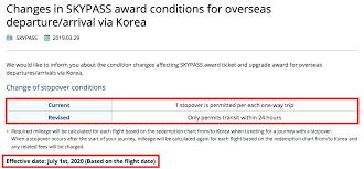 Korean Air Skypass Is Eliminating Their Free Stopover Option