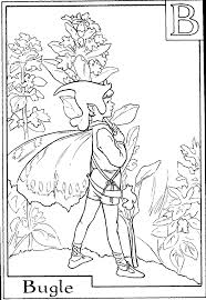 Small Picture Flower Fairies Alphabet Coloring Coloring Pages