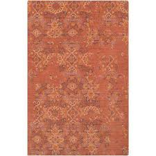 montalvos burnt orange 5 ft x 8 ft area rug