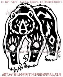 navajo tattoo designs. Navajo Grizzly Bear Tribal Design By WildSpiritWolf Tattoo Designs