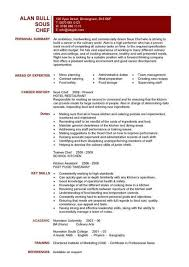 Free Templates For Resumes Simple Chef Resume Sample Examples Sous Chef Jobs Free Template Chefs
