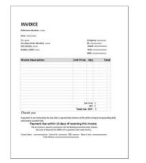 Free Invoice Template For Construction Trades