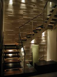 Home Interior:Modern Home Design With Led Stair Way Lighting Design Ideas  Modern Home Design