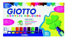 "Акриловые <b>краски</b> ""<b>GIOTTO ACRYLIC</b> PAINT, 12 цветов, 12 мл."