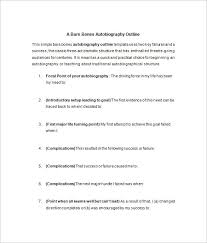 autobiography outline word pdf documents  a bare bones autobiography outline template