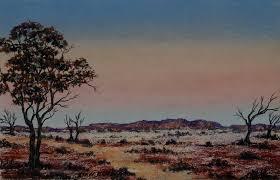 outback dusk pastel australian outback landscape by sian butler