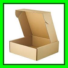 flat shipping printing corrugated kraft paper plain cardboard gift bo