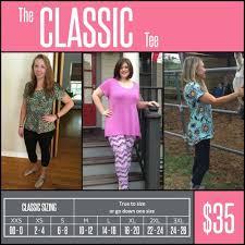 Classic Tee Lularoe Size Chart Pin By Natalie Coffman On Lularoe Lularoe Classic Tee