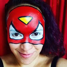 spiderwoman face painting not to be confused with spider girl nanycaritas face